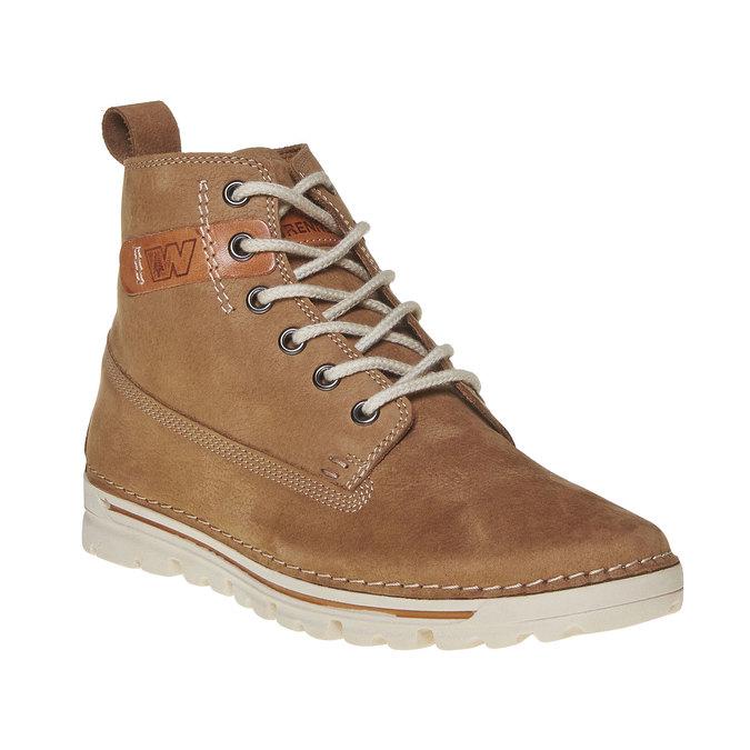 Kožená kotnikova obuv na šněrování weinbrenner, hnedá, 594-8323 - 13
