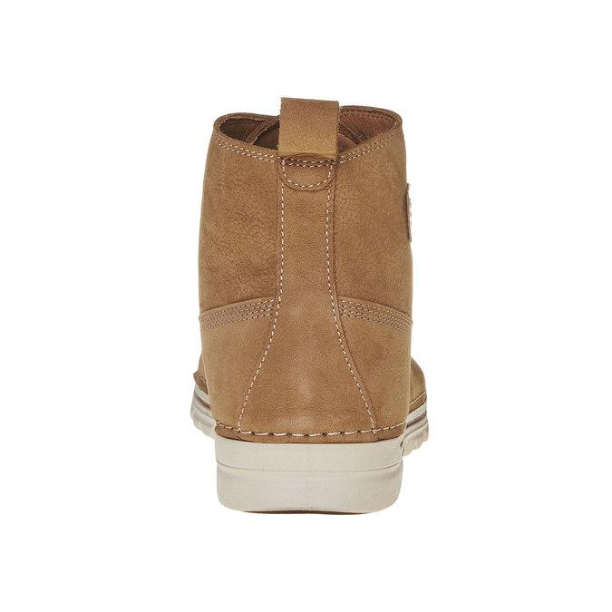 Kožená kotnikova obuv na šněrování weinbrenner, hnedá, 594-8323 - 17