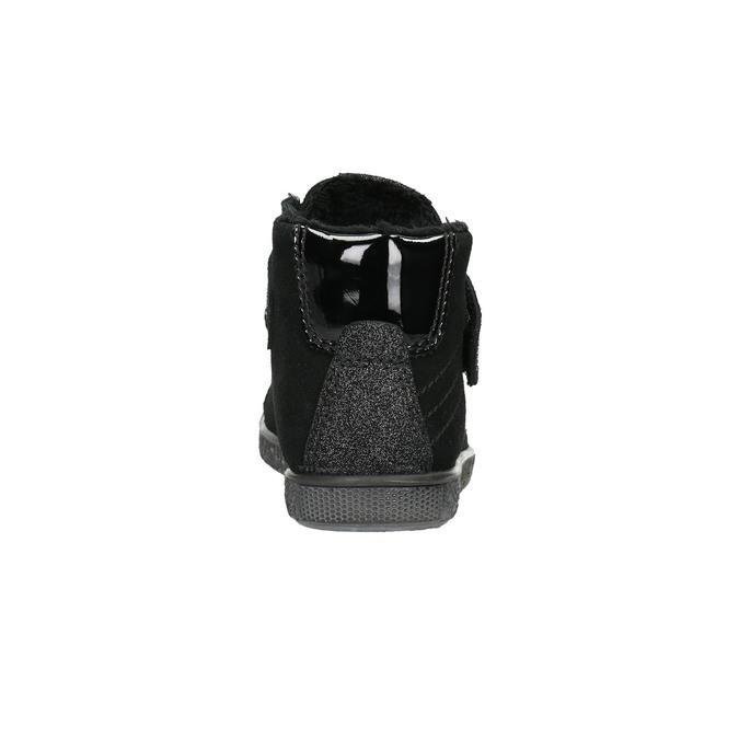 Členkové detské tenisky mini-b, čierna, 323-6172 - 17
