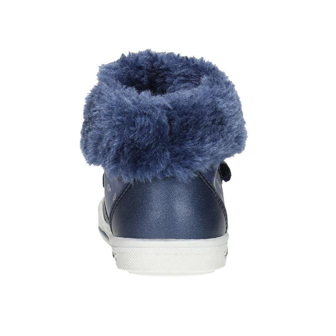 Dievčenská obuv s kožušinou bubblegummers, modrá, 121-9621 - 17