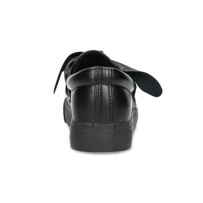 Čierna dámska Slip-on obuv s mašľou north-star, čierna, 511-6606 - 15