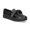 Čierna dámska Slip-on obuv s mašľou north-star, čierna, 511-6606 - 13