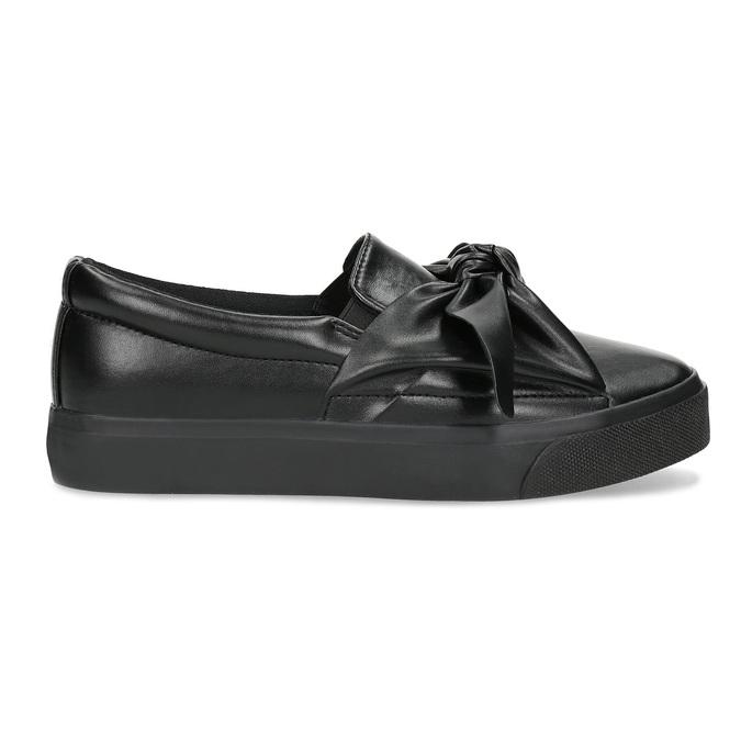 Čierna dámska Slip-on obuv s mašľou north-star, čierna, 511-6606 - 19