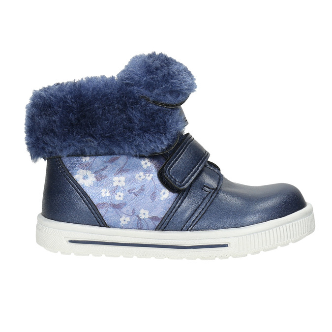 Dievčenská obuv s kožušinou bubblegummers, modrá, 121-9621 - 15