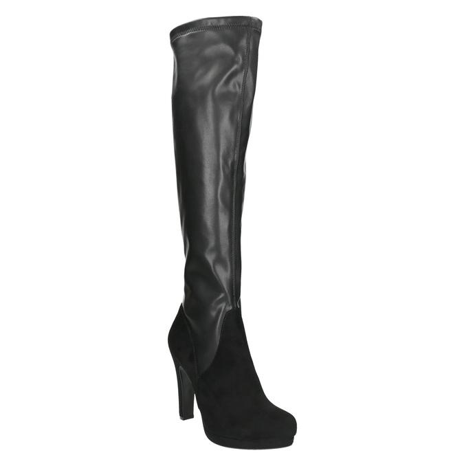 Dámske čierne čižmy bata, čierna, 791-6614 - 13