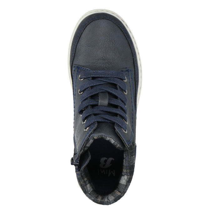 Členková detská obuv na zips mini-b, modrá, 311-9611 - 19
