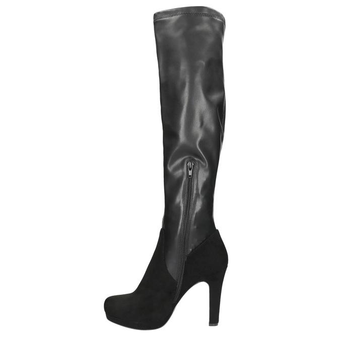 Dámske čierne čižmy bata, čierna, 791-6614 - 26