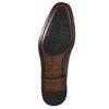 Kožené Oxford poltopánky so zdobením bata, hnedá, 826-3690 - 19