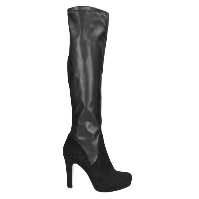 Dámske čierne čižmy bata, čierna, 791-6614 - 15