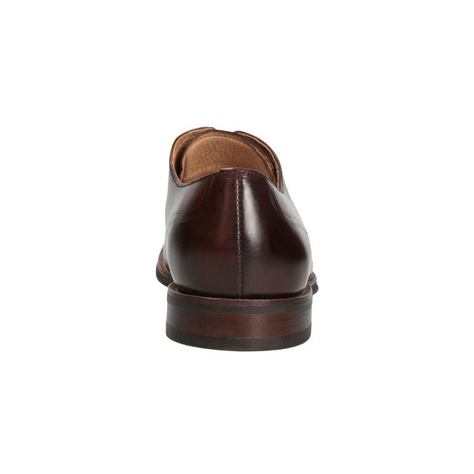 Hnedé pánske kožené poltopánky bata, hnedá, 826-4681 - 15