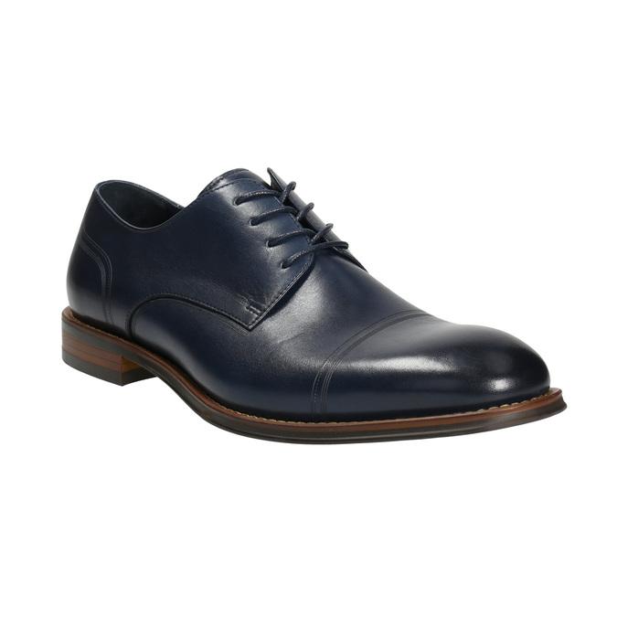 Ležérne  modré kožené poltopánky bata, modrá, 826-9681 - 13