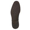 Ležérne  modré kožené poltopánky bata, modrá, 826-9681 - 19