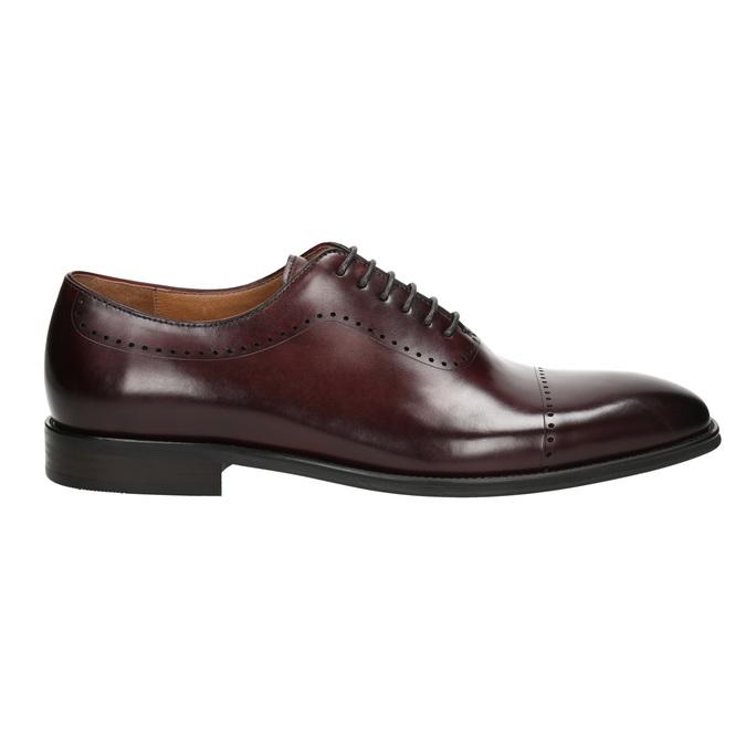 Pánske kožené Oxford poltopánky bata, červená, 826-5683 - 15