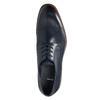 Ležérne  modré kožené poltopánky bata, modrá, 826-9681 - 26