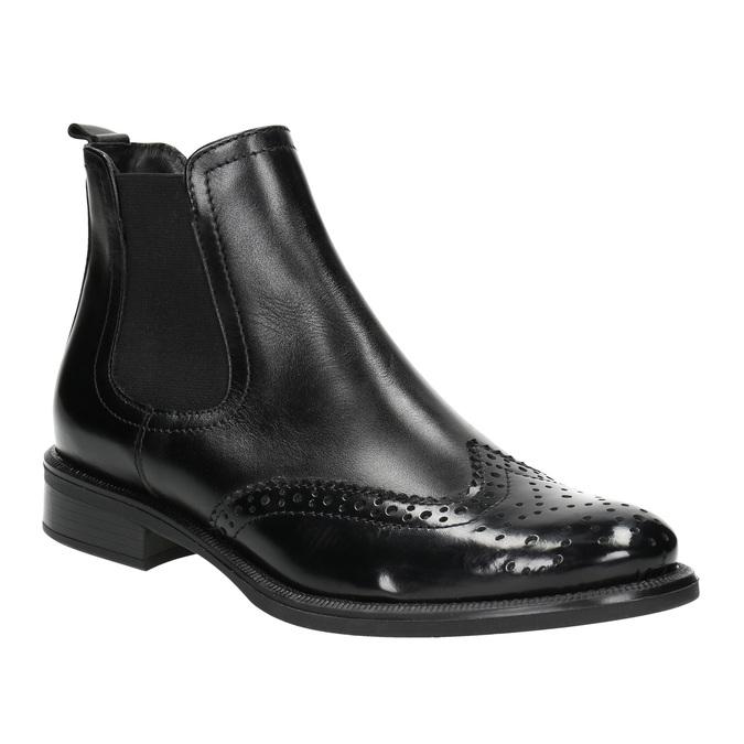 Dámska kožená Chelsea obuv bata, čierna, 594-6638 - 13