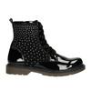 Detská členková obuv s kamienkami mini-b, čierna, 321-6611 - 15
