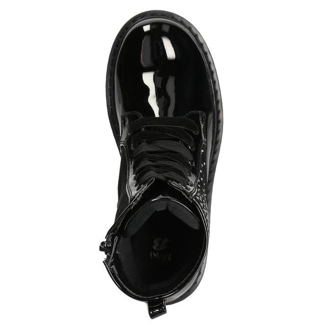 Detská členková obuv s kamienkami mini-b, čierna, 321-6611 - 19