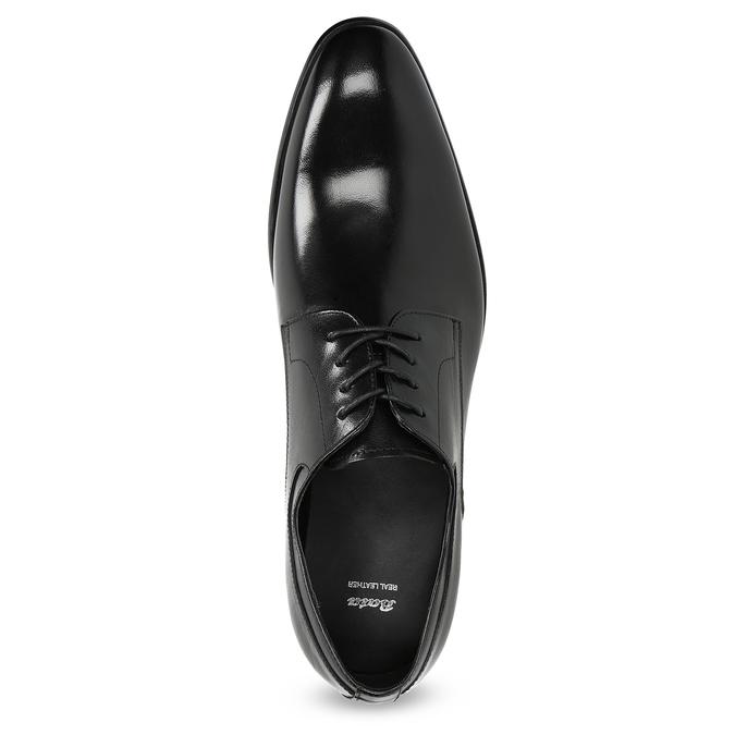 Pánske kožené Derby poltopánky bata, čierna, 824-6233 - 17