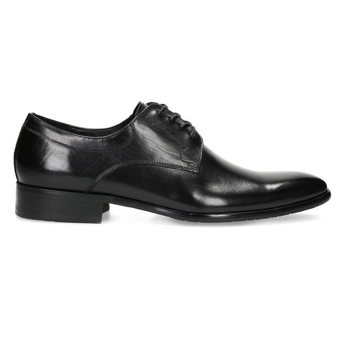 Pánske kožené Derby poltopánky bata, čierna, 824-6233 - 19