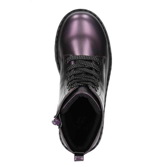 Metalická detská obuv mini-b, fialová, 321-9612 - 19
