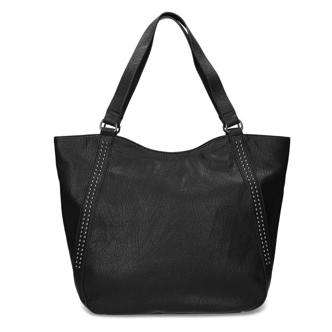 Čierna dámska kabelka s prešitím bata, čierna, 961-6787 - 26