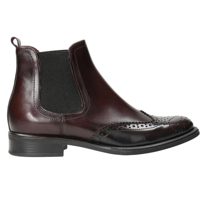 Kožená obuv v štýle Chelsea bata, červená, 594-5638 - 15