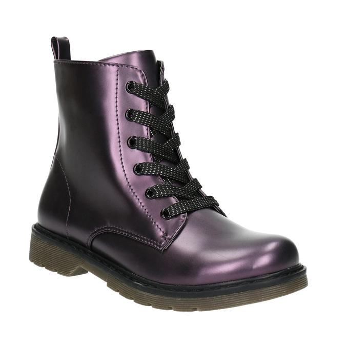 Metalická detská obuv mini-b, fialová, 321-9612 - 13