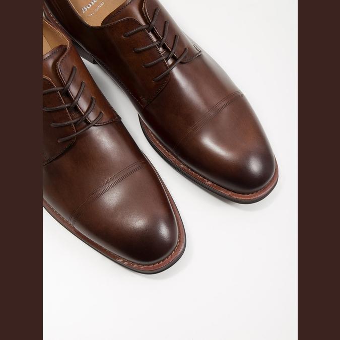 Hnedé pánske kožené poltopánky bata, hnedá, 826-4681 - 14