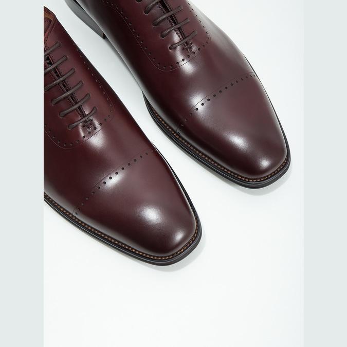 Pánske kožené Oxford poltopánky bata, červená, 826-5683 - 14
