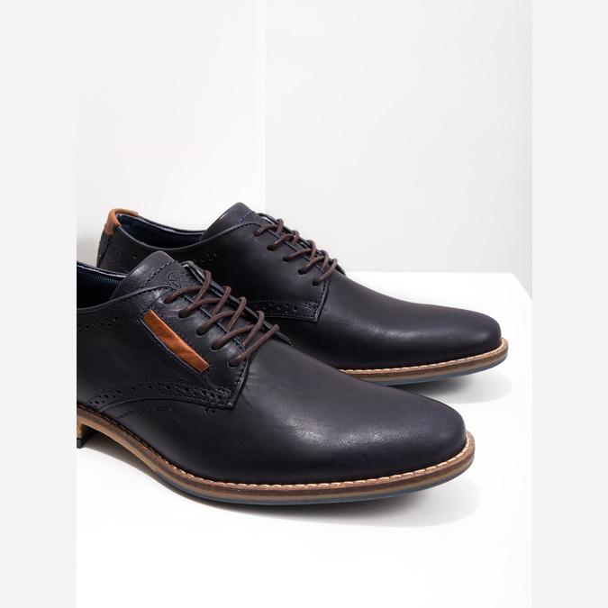 Neformálne kožené poltopánky bata, modrá, 826-9910 - 14