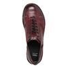 Dámske kožené poltopánky bata, červená, 526-5640 - 26