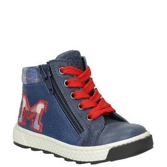 Detská kožená členková obuv bubblegummers, modrá, 114-9603 - 13