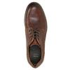 Hnedé kožené poltopánky s prešitím bata, hnedá, 826-4915 - 26