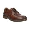 Hnedé kožené poltopánky s prešitím bata, hnedá, 826-4915 - 13