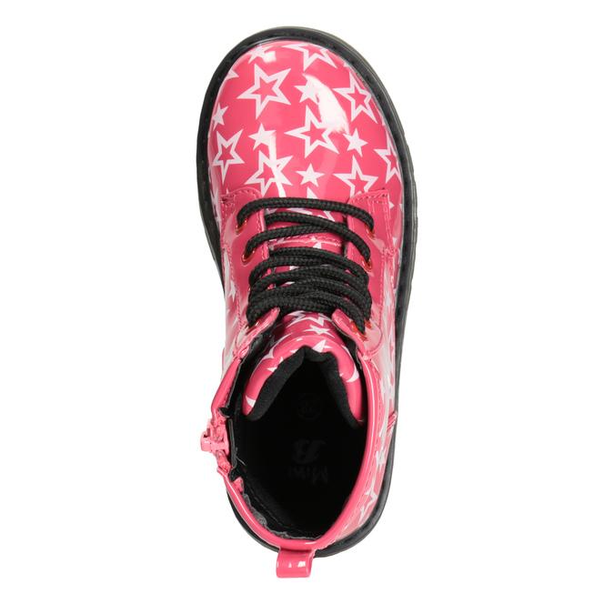 Dievčenská šnurovacia obuv s hviezdičkami mini-b, ružová, 291-5167 - 15