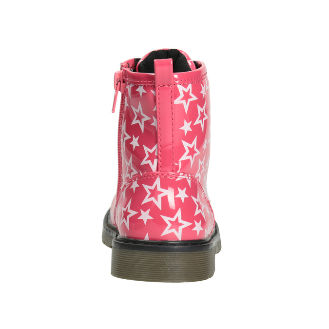 Dievčenská šnurovacia obuv s hviezdičkami mini-b, ružová, 291-5167 - 16