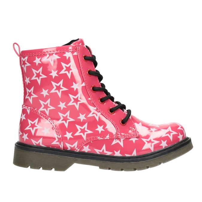 Dievčenská šnurovacia obuv s hviezdičkami mini-b, ružová, 291-5167 - 26