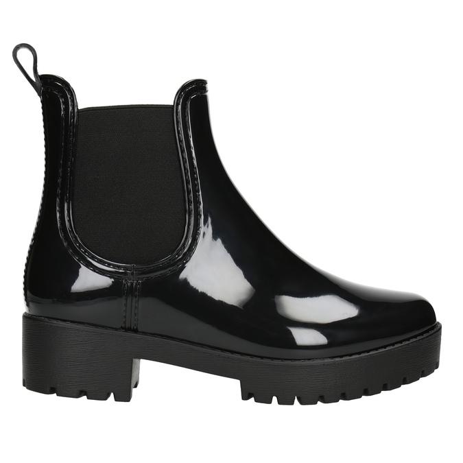 Lakované dámske gumáky bata, čierna, 592-6400 - 26
