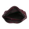 Kožená kabelka v Hobo štýle bata, červená, 964-5261 - 15