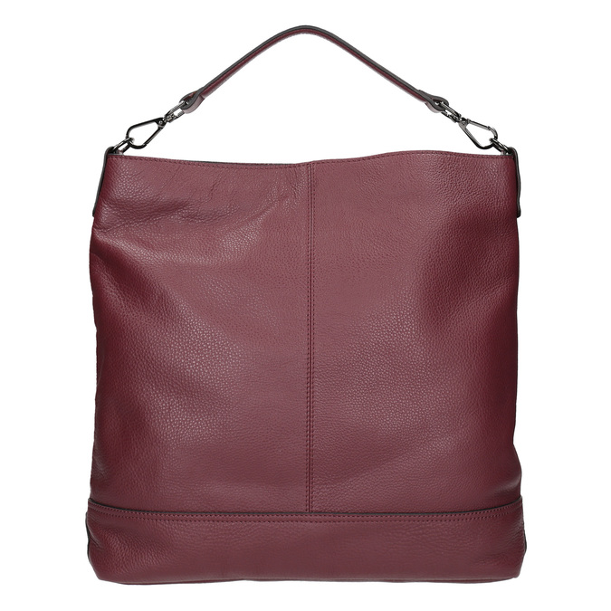 Kožená kabelka v Hobo štýle bata, červená, 964-5261 - 16