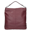 Kožená kabelka v Hobo štýle bata, červená, 964-5261 - 26