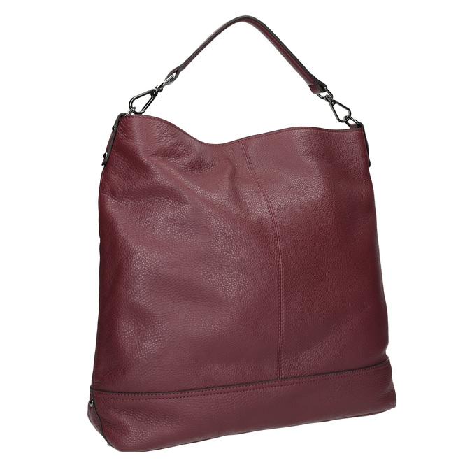 Kožená kabelka v Hobo štýle bata, červená, 964-5261 - 13