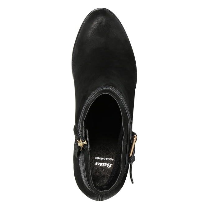 Dámske členkové čižmy s prackou bata, čierna, 796-6644 - 15