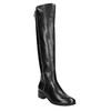 Kožené dámske čižmy so zipsom bata, čierna, 594-6653 - 13