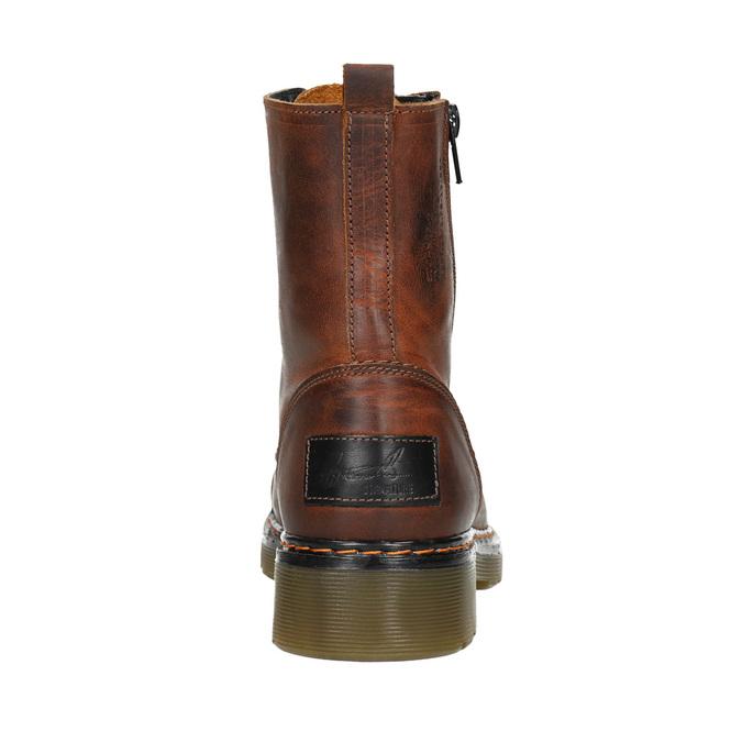 Dámska členková obuv so zipsom bata, hnedá, 596-3681 - 16