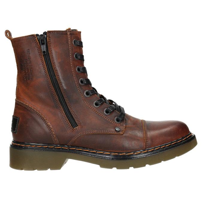 Dámska členková obuv so zipsom bata, hnedá, 596-3681 - 26