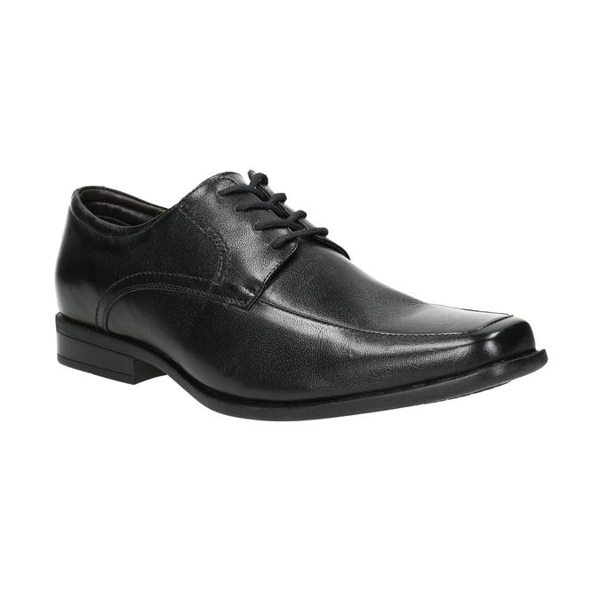 Čierne kožené poltopánky bata, čierna, 824-6600 - 13
