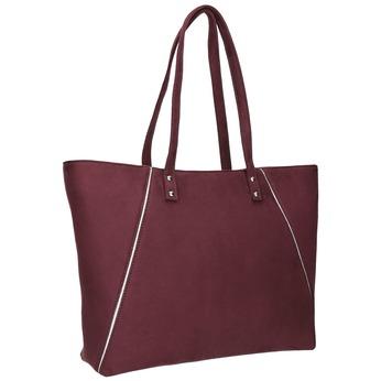 Vínová dámska kabelka bata, modrá, červená, 969-9669 - 13