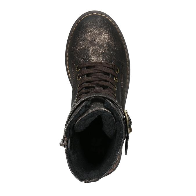 Detská zimná obuv s výšivkou mini-b, hnedá, 391-8654 - 26