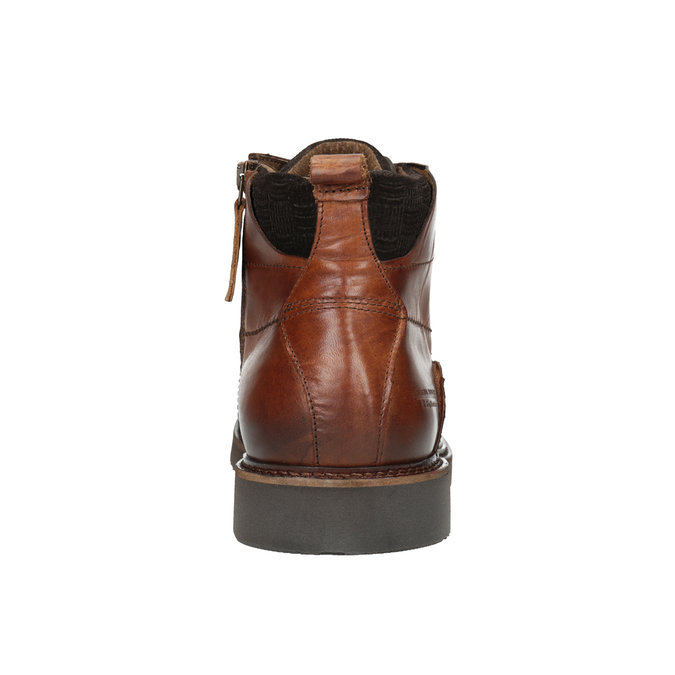 Kožená členková obuv bata, hnedá, 896-3675 - 16